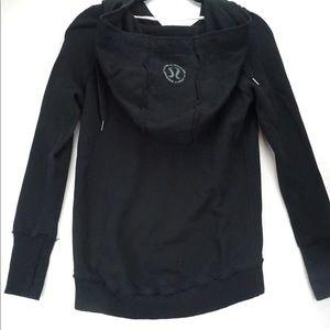 Lululemon distressed cross over hoodie size 8